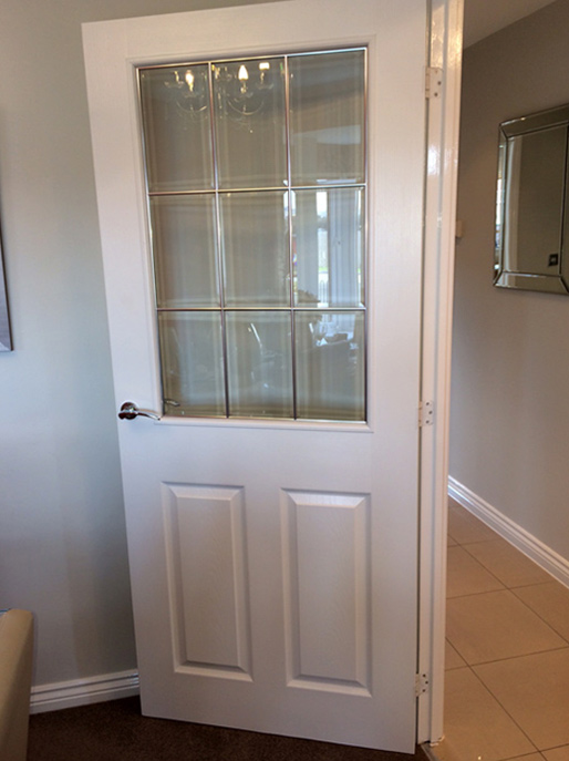 9 Light Chrome Beading Rail Single Half Glazed Door (Smooth or Grained Texture) & 9 Light Chrome Beading Rail Single Half Glazed Door (Smooth or ...