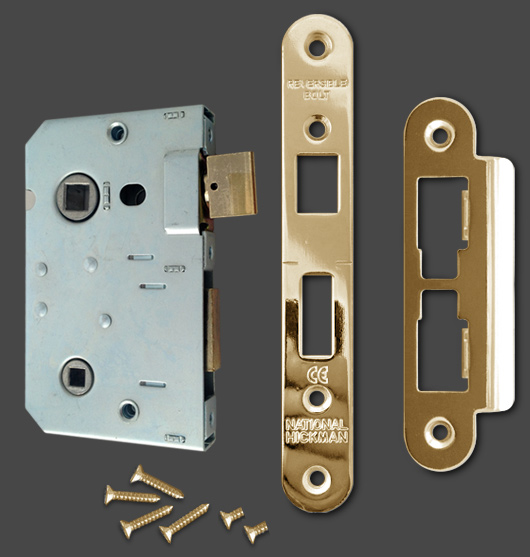 63mm Bathroom Lock Amp Keep Set Brass Timber2u